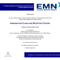 IMMIGRATION FLOWS AND RECEPTION CENTERS, 20/12/13